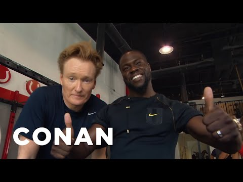 Conan Hits The Gym With Kevin Hart