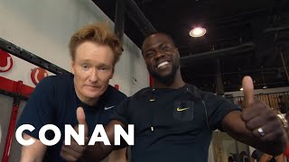 Video Conan Hits The Gym With Kevin Hart  - CONAN on TBS MP3, 3GP, MP4, WEBM, AVI, FLV Juli 2018
