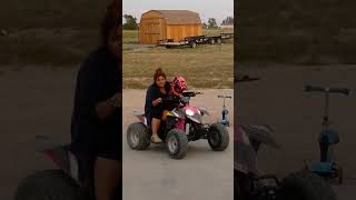 10. How bout a 2yr old on her own Polaris 110 Outlaw!!!!
