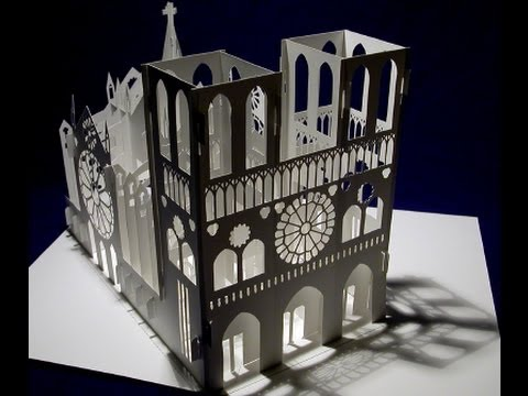 Pop up Notre Dame Cathedral foldable