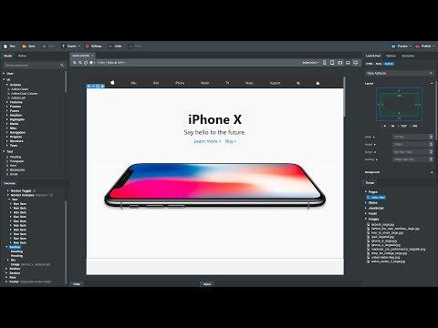 Creating Apple's Website in Bootstrap Studio 4 (Tutorial)