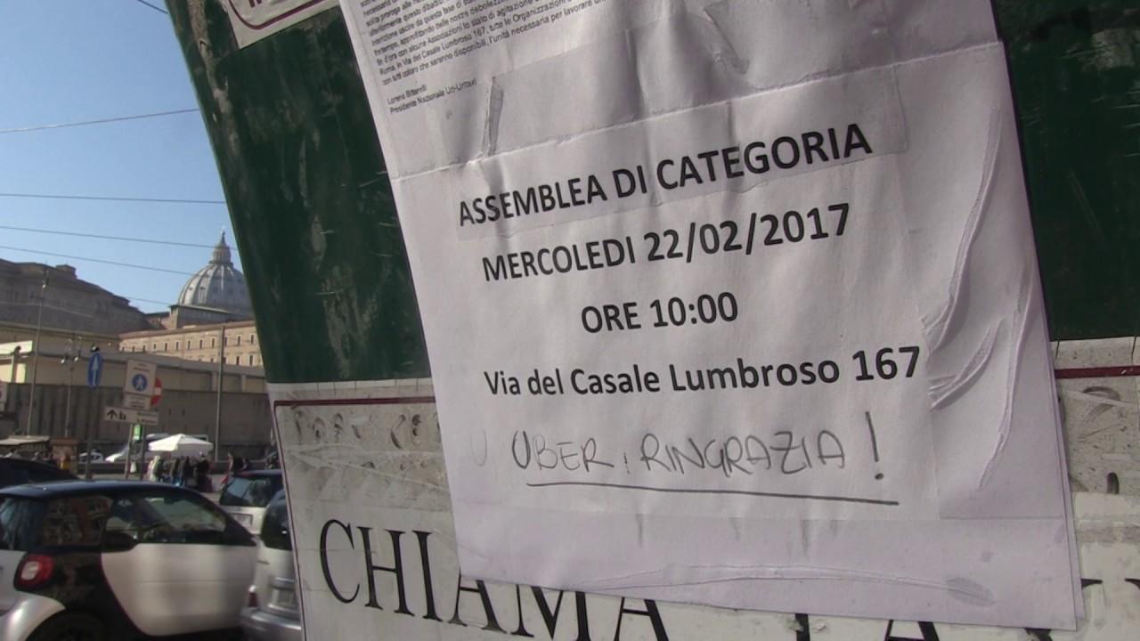 Roma, la rivolta dei tassisti