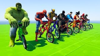 Spiderman, hulk, batman, superman, goku and other superheroes in Fun Cartoon for kids and toddlers with nursery rhymes songs ...