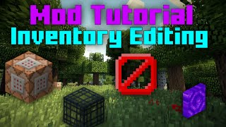 image of Basic Inventory Editing (Minecraft Mod Tutorial)