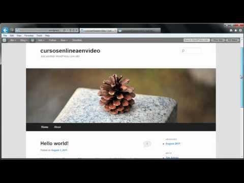 TUTORIAL DE WORDPRESS – COMO CREAR UNA PAGINA WEB O BLOG PARTE 1