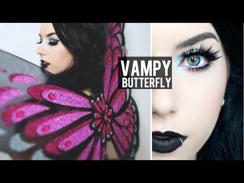 Vampy Butterfly Halloween Makeup Tutorial + DIY Halloween Costume!