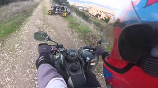 9. Atv Riding Can-Am DS 450 vs Aeon Cobra 320 part 1