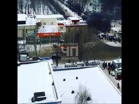 Автобус загорелся на дороге, Ульяновск