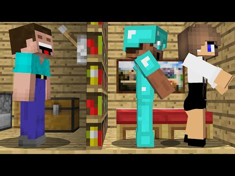WHAT DOES a PRO do with a GIRL in a SECRET ROOM? in Minecraft Noob vs Pro