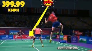Video 20 Fastest SMASHES in Badminton MP3, 3GP, MP4, WEBM, AVI, FLV Mei 2018