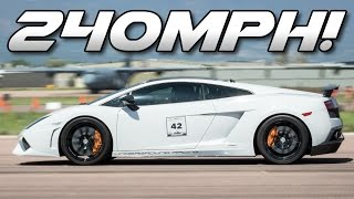 The WORLDS FASTEST 1/2 Mile Car - 240 MPH Turbo Lambo!! by 1320Video