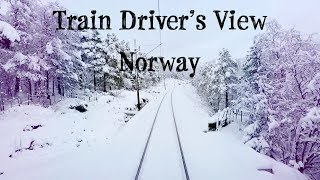 Download Video Train Driver's View: Winter is finally here! (Bergen - Ål) MP3 3GP MP4