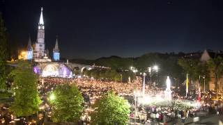 Timelapse de la procession mariale du Pèlerinage Militaire International 2014