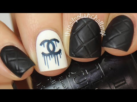 nail art design ispirato a chanel