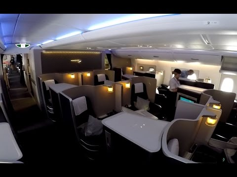 British Airways FIRST CLASS on the A380 full flight video review HD (видео)