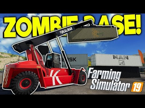 FARMERS BUILD A ZOMBIE BASE?! - Farming Simulator 19 Multiplayer Mod Gameplay