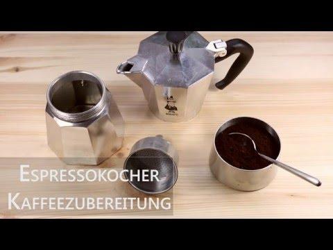 Kaffeezubereitung mit dem Espressokocher | Mokkakanne