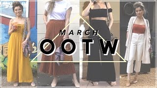 Download Lagu MARCH Outfits of the Week  • Texas Vlog Casual Lookbook | Miss Louie Mp3
