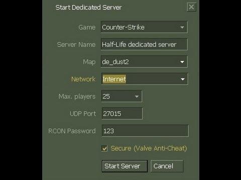 How to make a Counter Strike 1.6 Server ( step by step )
