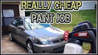 Video Cheap electric spray gun paint job. (decent results) MP3, 3GP, MP4, WEBM, AVI, FLV September 2019