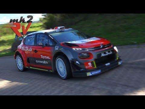 Andreas Mikkelsen & Craig Breen Citroën C3 WRC Rallye Deutschland Test 2017 -- MK2