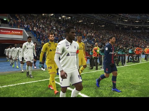 PSG VS TOULOUSE 2018 - League 1 Full Match Amazing Goals HD - PES 2019 Gameplay PC