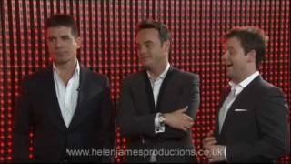 Simon Cowell, Ant and Dec on the new ITV Red or Black game show.