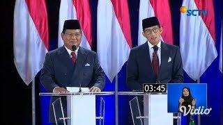 Video Prabowo & Sandiaga Janji Tidak Akan Mengambil Gajinya Jika Terpilih - Debat Capres 2019 MP3, 3GP, MP4, WEBM, AVI, FLV April 2019