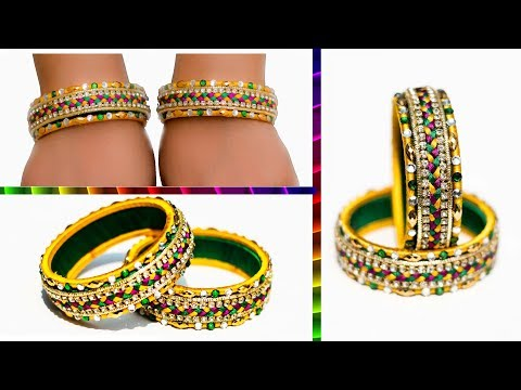 Video Make an awesome new bangle from old glass bangles | OLD BANGLE REUSE | New look | Silk thread bangle download in MP3, 3GP, MP4, WEBM, AVI, FLV January 2017
