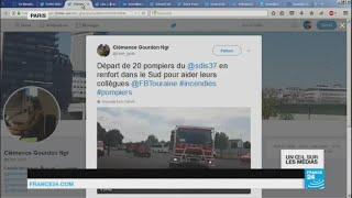 Abonnez-vous à notre chaîne sur YouTube : http://f24.my/youtubeEn DIRECT - Suivez FRANCE 24 ici : http://f24.my/YTliveFRAu menu d'Un Œil sur les Médias : les vastes incendies dans le Sud de la France, la réouverture des bassins de baignade de la Villette et Donald Trump qui fait huer Barack Obama lors du rassemblement national des boys scouts américains.http://www.france24.com/fr/taxonomy/emission/18585Notre site : http://www.france24.com/fr/Rejoignez nous sur Facebook : https://www.facebook.com/FRANCE24.videosSuivez nous sur Twitter : https://twitter.com/F24videos