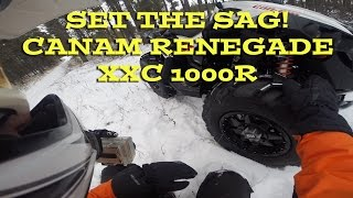 6. Settin the Sag! Motovlog On Canam Renegade 1000XXCR