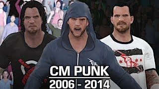 We take a look at the evolution of CM Punk from 2006 to 2014!If you guys appreciate all the hours and hard work I put into these videos, you have the option to donate to me to support me even more! Donate Link: https://streampro.io/tip/jules1451Show some love by leaving a like, sharing and subscribing for more awesome videos like these!OUTRO MUSIC: Undertaker's Rollin Theme Cover by JAYDEGARROWJAYDEGARROW's YouTube: https://www.youtube.com/channel/UCit4zHRRYaU5Og8ZHqvA7jQFOLLOW ME HERE:Facebook: https://www.facebook.com/julian.rosado.14Twitter: https://twitter.com/Jules1451Instagram: https://www.instagram.com/jules1451/Snapchat: @Jules1451Want to see more WWE 2K16 & WWE 2K17 Content? Visit this link for more! http://www.thesmackdownhotel.com