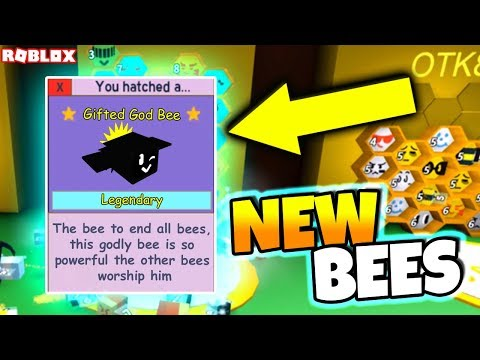 GOD BEE + NEW GIFTED AND LEGENDARY BEES!! (Roblox Bee Swarm Simulator)