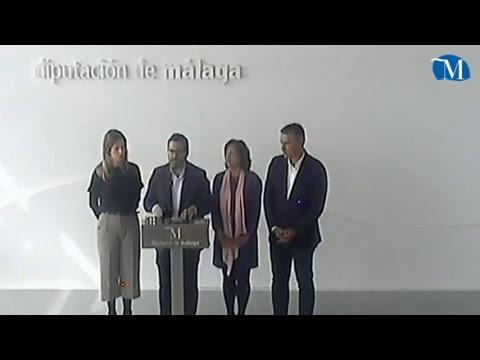 La portavoz socialista Antonia García y el diputado provincial Manuel Chicón informan sobre asuntos de actualidad