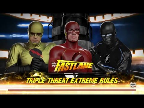 WWE 2K16 The Flash Vs Reverse Flash Vs Zoom (Who Is The Faster Speedster)