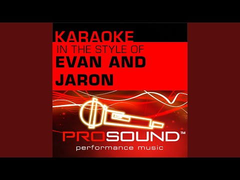 The Distance (Karaoke With Background Vocals) (In The Style Of Evan And Jaron)
