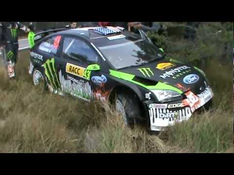 Ken Block fail and crash - Rally Catalunya WRC '10 [Pure Engine Sound]