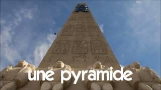 aprender francês # 1 time lapse # une pyramide