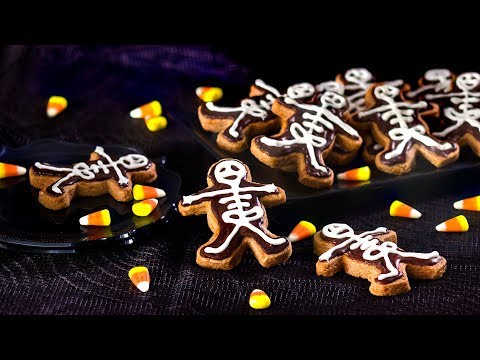 Skeleton Chocolate Cinnamon Cookies