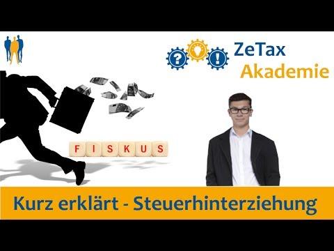 Kurz erklärt - Steuerhinterziehung und Selbstanzeige