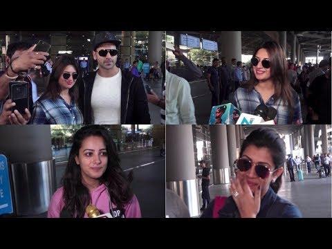 Divyanka Tripathi & Vivek Dahiya, Karan Patel & Ankita Bhargava Return From Budapest
