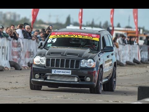 SEC - The fastest and quickest Jeep SRT8 in Europe — Arsen Demerji's Jeep Grand Cherokee SRT8 Ardinvest Sport Twin Turbo on Russian Drag Racing Championship Stage 5 in Crimea 2014. 1/4 mile —...