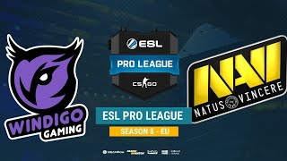 Windigo vs Na`Vi - ESL Pro League S8 EU - bo1 - de_overpass [Mintgod, Smile]