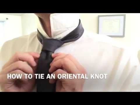 How To Tie An Oriental Knot Easy -Great for Skinny Ties!