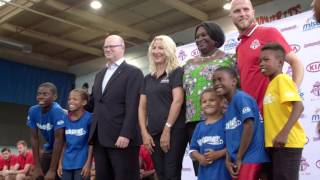 /Toronto FC celebrates the launch of the fifth year of KickStart