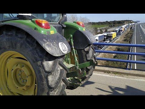 Αγροτικές κινητοποιήσεις στην Ισπανία