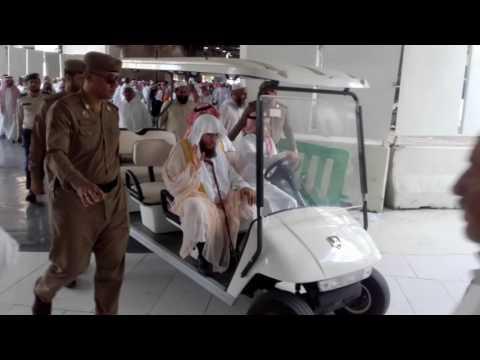 Sheikh Usama Khayyat leaving after salah