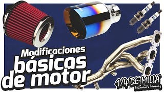 Modificaciones Básicas Para Motor | Filtros Cables Bujías Escape Headers | Blog 1/4 DE MILLA 🚗