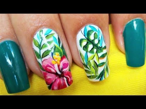 Uñas decoradas - Facil diseño de uñas con flores - Decoración de uñas flores - Diseño fácil de uñas con flores Rojas