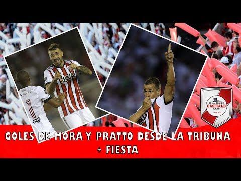 GOL DE MORA + GOL DE PRATTO DESDE LA TRIBUNA + FIESTA/ River Plate vs Godoy Cruz - Superliga - Los Borrachos del Tablón - River Plate - Argentina - América del Sur